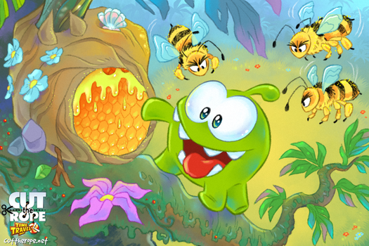 Om Nom in the Stone Age 02 by Maksim2d
