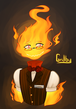 Wowie! It's a Grillby. by Nightshade-Artist
