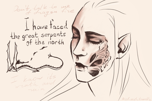 Great Serpents (sketch) by the-ALEF
