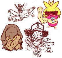 Teddi stream sketches - thug life by TheHaloGuy