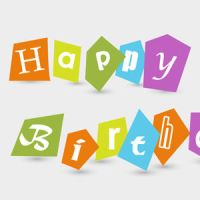 Free Vector of the Day #188: Happy Birthday Text by cristina012
