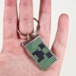 Minecraft Creeper Beaded Keychain by CarrieBea