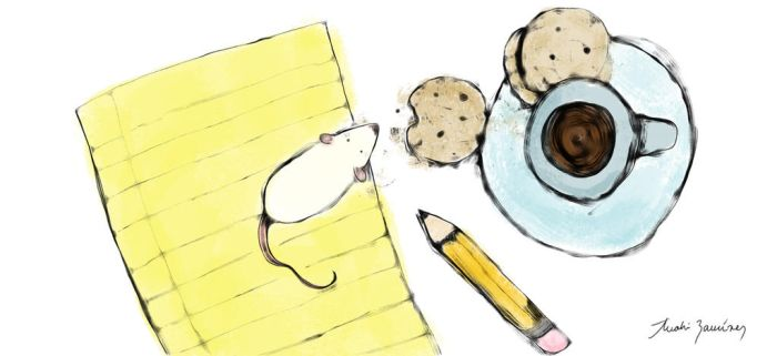 Cookies, coffee, and a rat by supercrayola