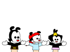 Yakko, Wakko and Dot puppets by SuperMarcosLucky96