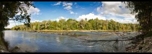 Isar river panorama by sylaan