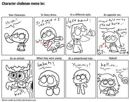 Character Challenge Meme by treveron