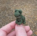 Micro needle felted frog by SnowFox102