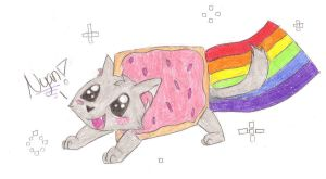 nyan cat by justudude1