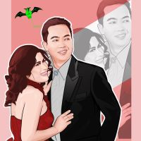 pre-wedding vector tracing by kalongart