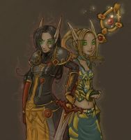 blood elves - low saturation by szienna