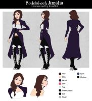 Commission : Amalia modelsheet by utenaxchan