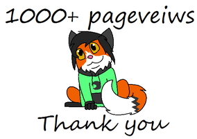 1000+ pageveiws by Foxlover4218