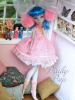 Pinky Pop - Custom Monster High Doll by blanki
