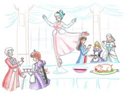 Royal ice centerpiece by yomerome