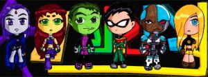 Titans Chibies by duckman272