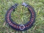 red and gold collar by Custom-Metal-collars