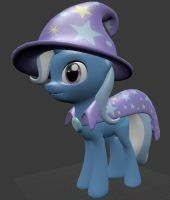 The next great and powerful papercraft - Trixie by Znegil