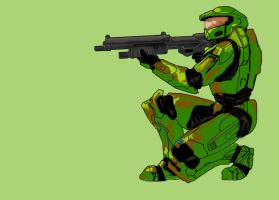 Spartan 117 Master Chief by Biery-Bear