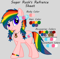 Sugar Rush's Refrence Sheet by JewelThePonyLover12