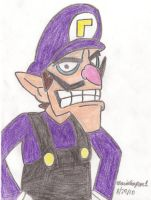 Waluigi Drawing by MarioSimpson1