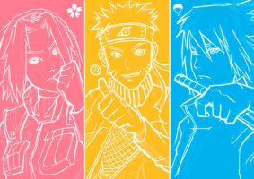 Naruto - Team 7 United ! by ZyrexTheZ