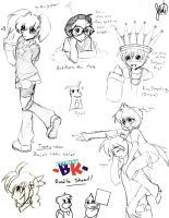 BK Sketch Dump by anime-dragon-tamer