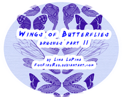Wings Brushes Part 2 by FoxFireRed