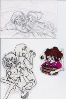 Spirited Away Sketches by ArtisteFish
