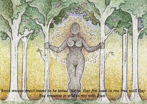 Wild Woman among the Trees enhanced by Spiralpathdesigns