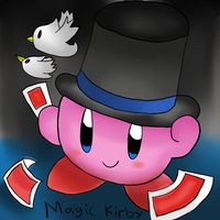 Kirby Tuesdays-Magic Kirby by thegamingdrawer