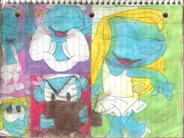 Vanity and Smurfette 1 by RozStaw57