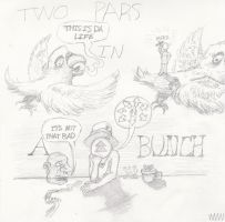 TWO PARS IN A BUNCH by LivingGreyFace