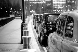 Canary Wharf taxies by duhcoolies
