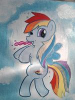 rainbow dash painting for sale by Lucora