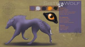 Study of a Sister Wolf by PlainYellowFox