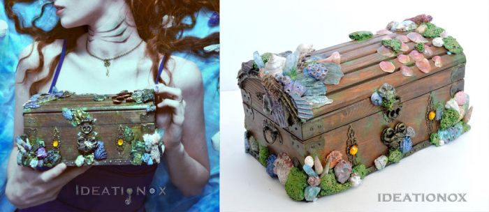 Mermaid Treasure Chest by Ideationox