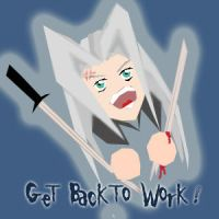 Sephiroth on my back by meaikoh