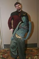 Steampunk Commander Riker and Orion Slave Girl by TreeVor