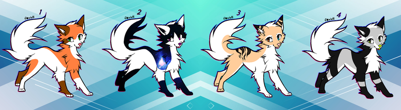 Fox-Wolf Point Adopts 1 OPEN by Akssel-Adopts