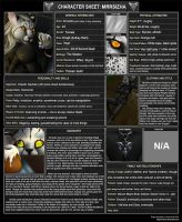 Character Sheet: Mrrsizha by The13thBlackCat