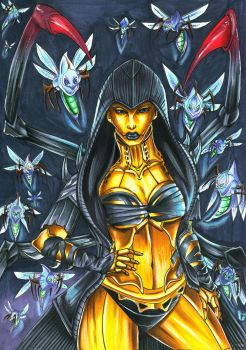 The Hive will consume you! - D'Vorah MKX by Shiranui94
