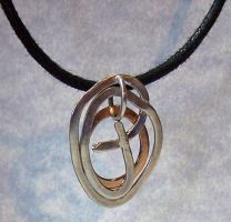 Silver and Bronze Swirl Pendant by SoundwarpSG-1