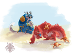 falstreig calmly watches pet carnage.png by VCR-WOLFE