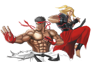 Ryu and Ken (Street Fighter V) by Horoko