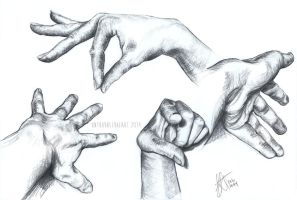 Hands Study II by untroubledheart
