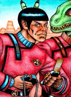 Vulcan and Gorn Away Team by Frohickey
