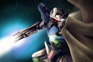 Slice like the wind , Exia! by PathOfDawn