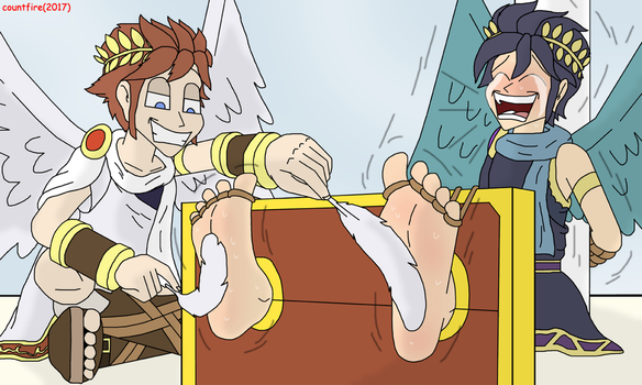 Pit tickling Pit by countfire