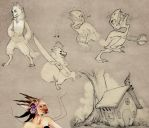 Some sketches by Makime