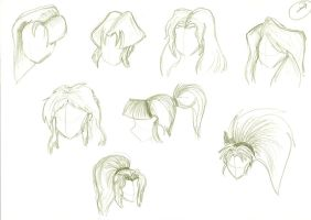 Anime hairstyles by Tigreperro